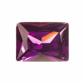 18X13mm Rectangle Light Amethyst CZ - Pack of 1