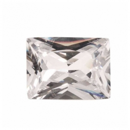18x13mm Rectangle White CZ - Pack of 1