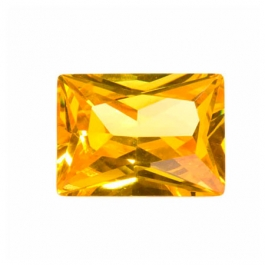 18X13mm Rectangle Golden Yellow CZ - Pack of 1