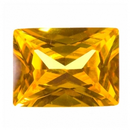 18X13mm Rectangle Yellow CZ - Pack of 1