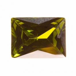 20X15mm Rectangle Olive CZ - Pack of 1