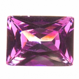 20X15mm Rectangle Amethyst CZ - Pack of 1