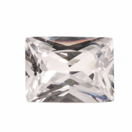 20X15mm Rectangle White CZ - Pack of 1