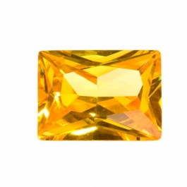 20X15mm Rectangle Golden Yellow CZ - Pack of 1