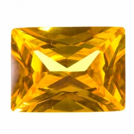 20X15mm Rectangle Yellow CZ - Pack of 1
