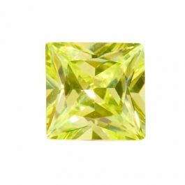 10mm Square Apple Green CZ - Pack of 1