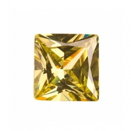 10mm Square Peridot CZ - Pack of 1