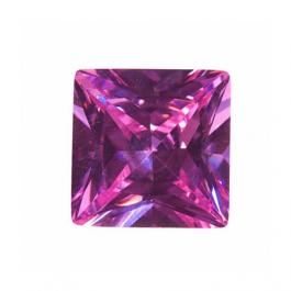 10mm Square Lavender CZ - Pack of 1