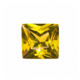 10mm Square Olive CZ - Pack of 1