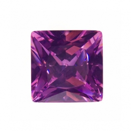 10mm Square Pink Rose CZ - Pack of 1