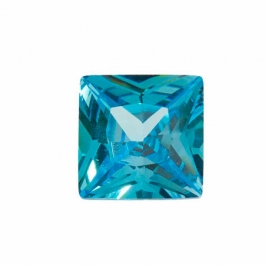 10mm Square Blue Topaz CZ - Pack of 1