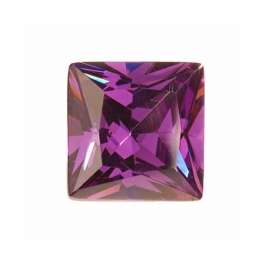 10mm Square Amethyst CZ - Pack of 1