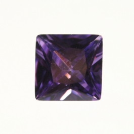 10mm Square Light Amethyst CZ - Pack of 1
