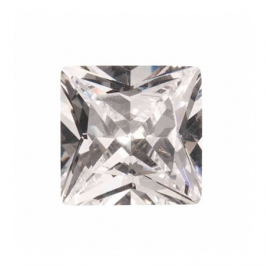 10mm Square White CZ - Pack of 1