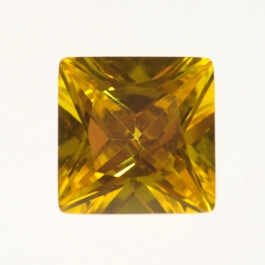 10mm Square Yellow CZ - Pack of 1