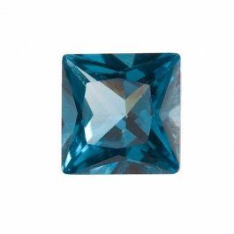 10mm Square Blue Zircon CZ - Pack of 1