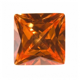 14mm Square Dark Champagne CZ - Pack of 1
