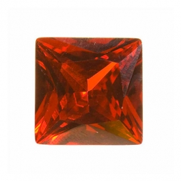 14mm Square Red CZ - Pack of 1