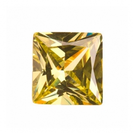 14mm Square Peridot CZ - Pack of 1