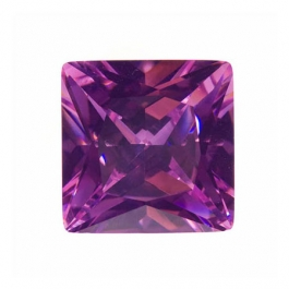 14mm Square Pink Rose CZ - Pack of 1