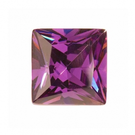 14mm Square Amethyst CZ - Pack of 1