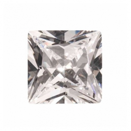 14mm Square White CZ - Pack of 1