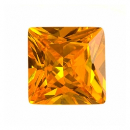 14mm Square Golden Yellow CZ - Pack of 1
