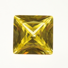 14mm Square Yellow CZ - Pack of 1