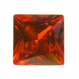 18mm Square Red CZ - Pack of 1