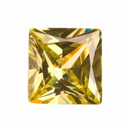 18mm Square Peridot CZ - Pack of 1