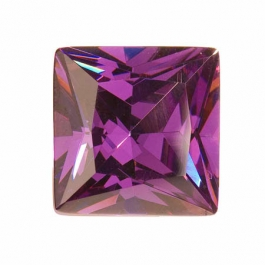18mm Square Amethyst CZ - Pack of 1