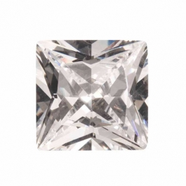 18mm Square White CZ - Pack of 1