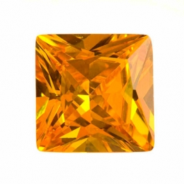 18mm Square Golden Yellow CZ - Pack of 1