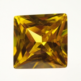 18mm Square Yellow CZ - Pack of 1