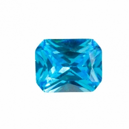 10X8mm Octagon Blue CZ - Pack of 1