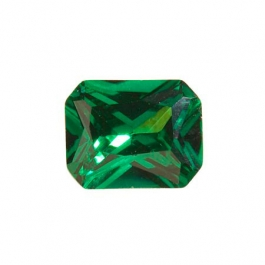 10X8mm Octagon Emerald Green CZ - Pack of 1