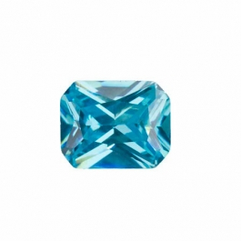 10X8mm Octagon Aquamarine CZ - Pack of 1