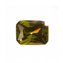 10X8mm Octagon Olive CZ - Pack of 1