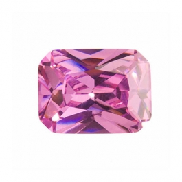 10X8mm Octagon Pink Rose CZ - Pack of 1