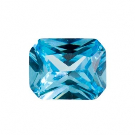 10X8mm Octagon Blue Topaz CZ - Pack of 1