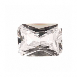 10X8mm Octagon White CZ - Pack of 1