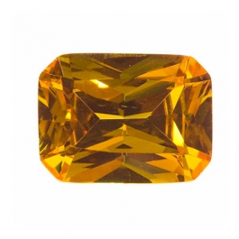 10X8mm Octagon Golden Yellow CZ - Pack of 1
