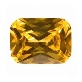 10X8mm Octagon Yellow CZ - Pack of 1