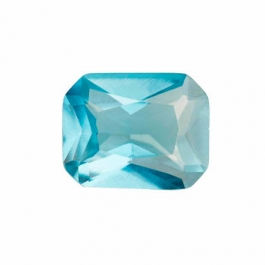 10X8mm Octagon Blue Zircon CZ - Pack of 1
