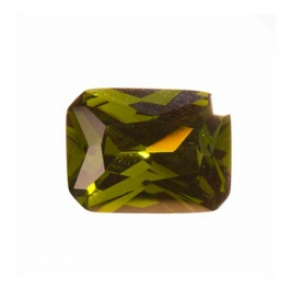 16X12mm Octagon Olive CZ - Pack of 1