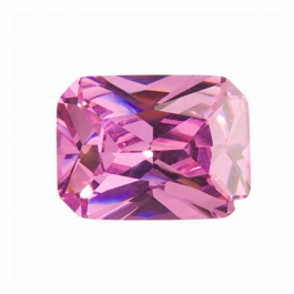 16X12mm Octagon Pink Rose CZ - Pack of 1