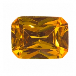 16X12mm Octagon Golden Yellow CZ - Pack of 1