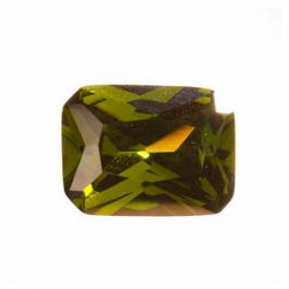 18X13mm Octagon Olive CZ - Pack of 1