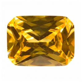 18X13mm Octagon Yellow CZ - Pack of 1
