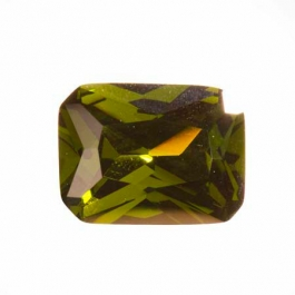 20X15mm Octagon Olive CZ - Pack of 1